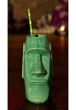 Tiki Mug/tiki mug Moai Vert