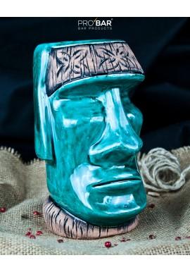 Tiki Mug Moai Turquoise