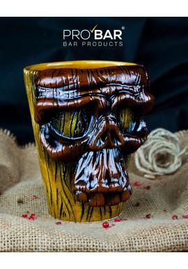 Tiki Mug Skull en Bois