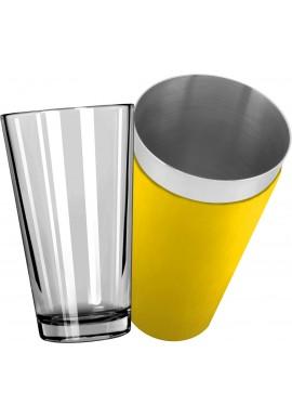 Mixing Glass avec Shaker Boston Vinyle Jaune