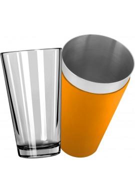 Mixing Glass avec Shaker Boston Vinyle Orange