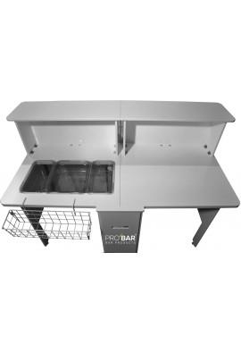 Comptoir de Bar Mobile avec Workstation/Station de Travail
