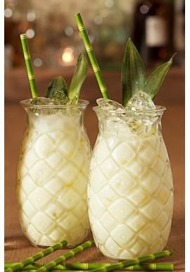 Verre Ananas Décoré